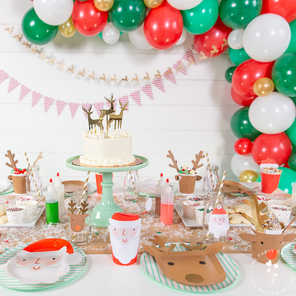 Santa and reindeer party supplies