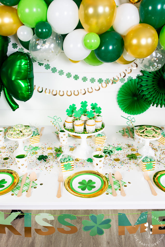 St Patrick's Day table setup