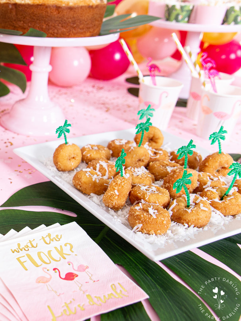 Tropical Flamingo Coconut Donuts