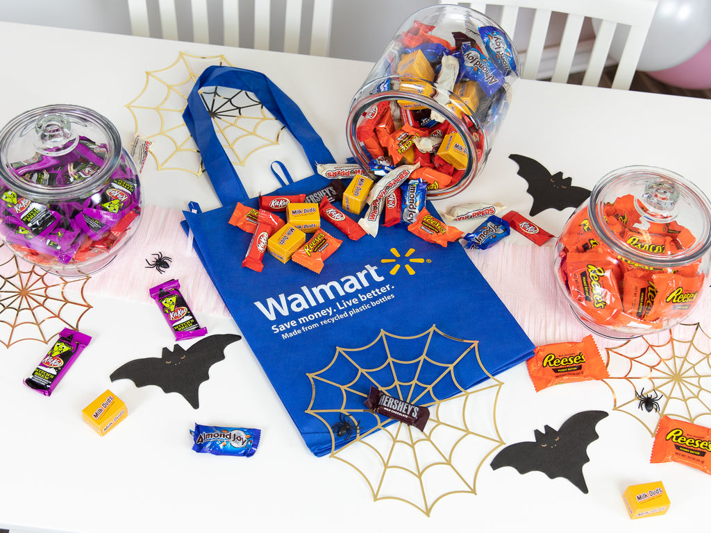 Walmart Bag with Halloween Candy