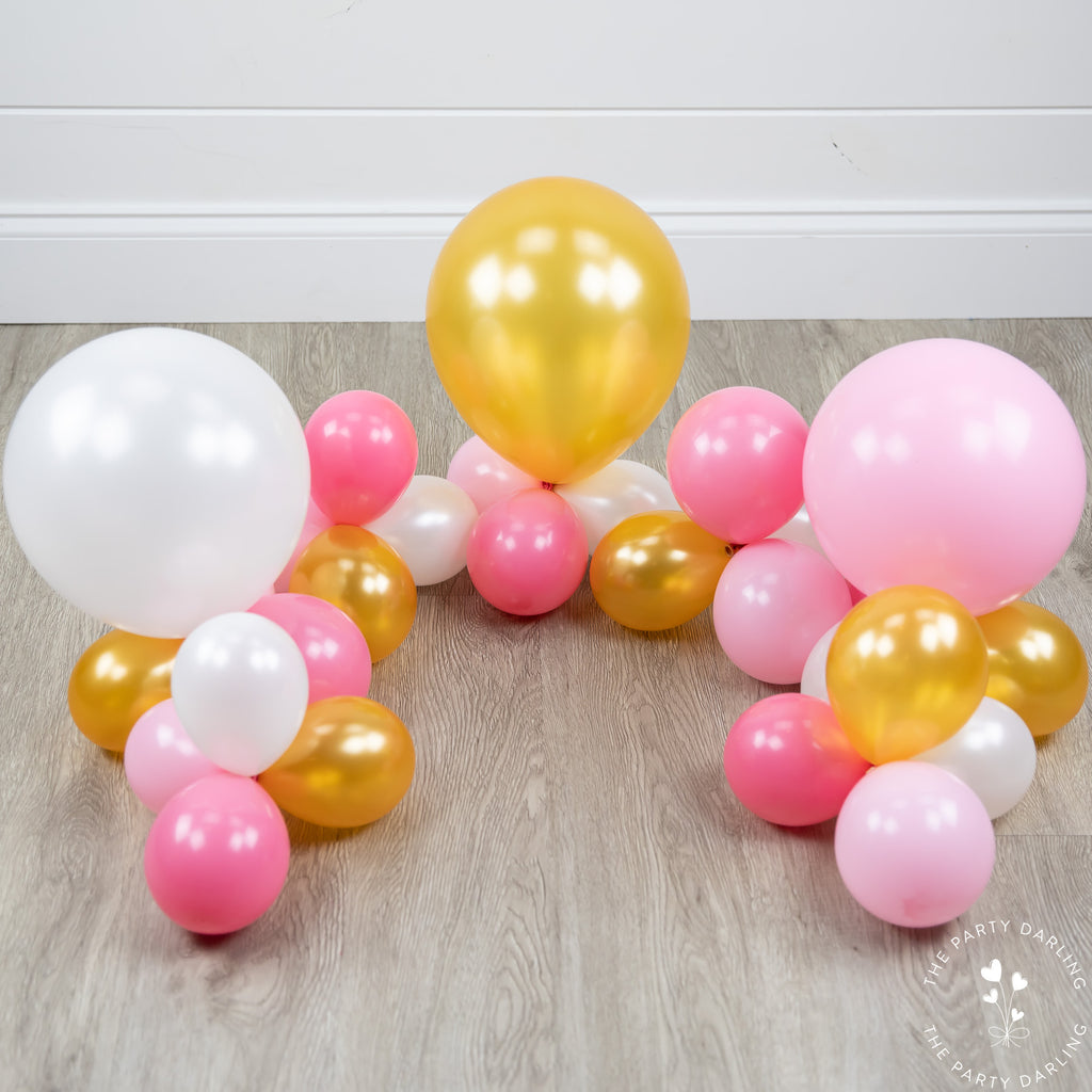 balloon garland tutorial layout balloons