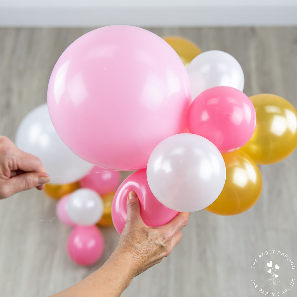 How To Make A Simple Diy Balloon Garland The Party Darling