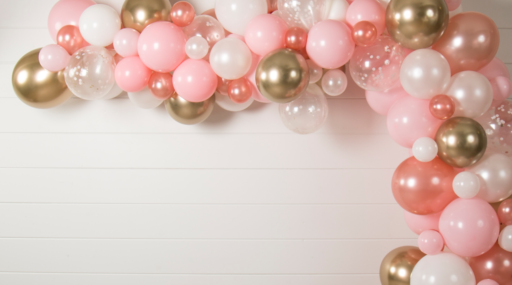 Pink and Gold Party Balloon Garland