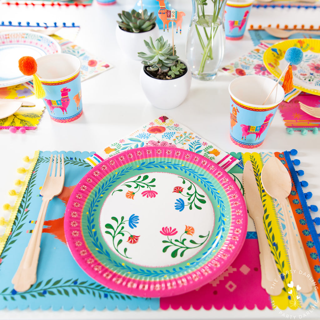 boho fiesta place setting