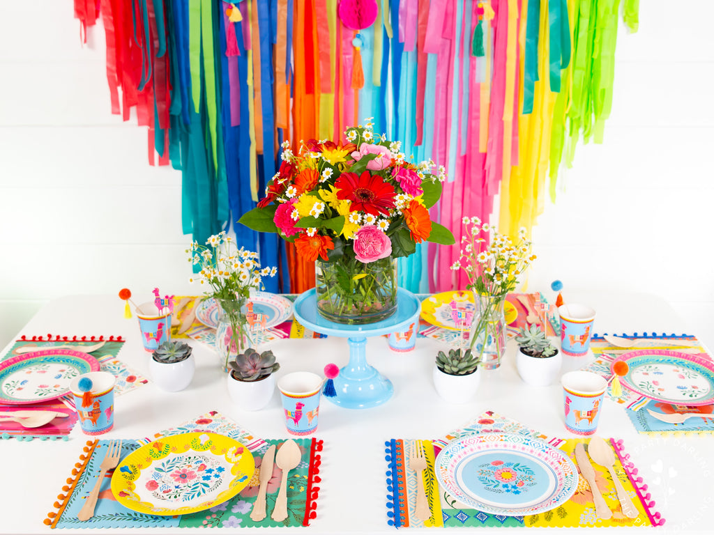 boho fiesta party table decorations