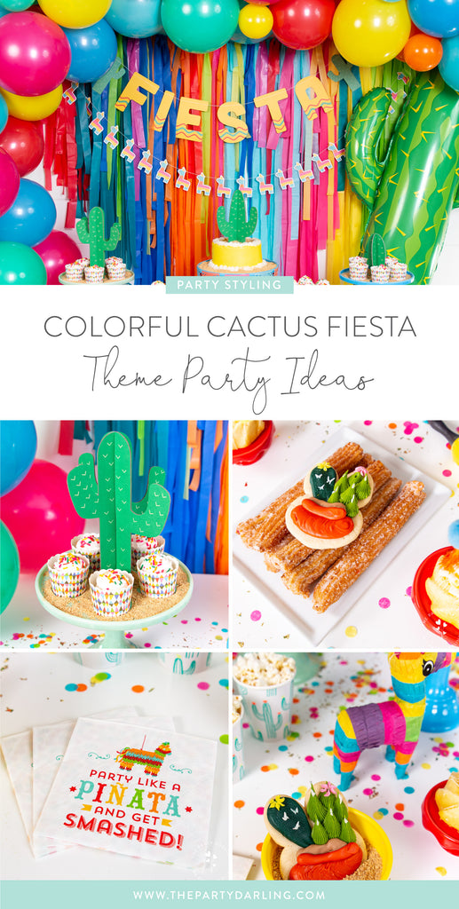 Colorful Cactus Fiesta Theme Party Ideas