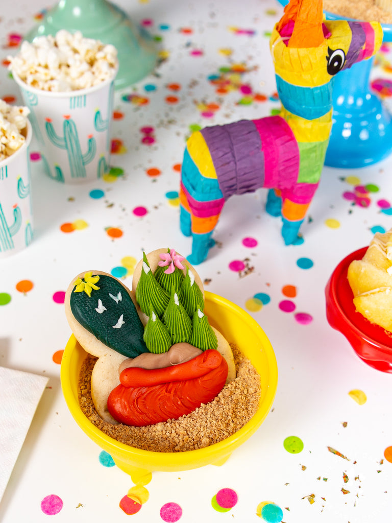 cactus fiesta cookie and pinata