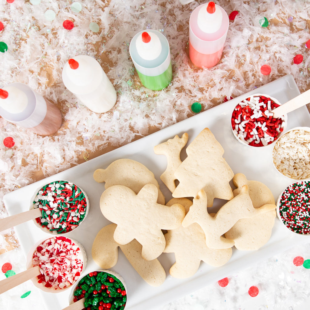 christmas sugar cookies and sprinkles