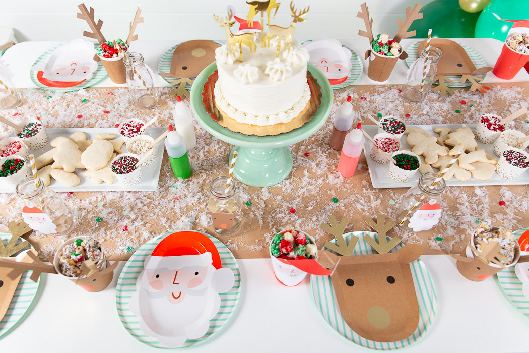 cookie decorating party table setting