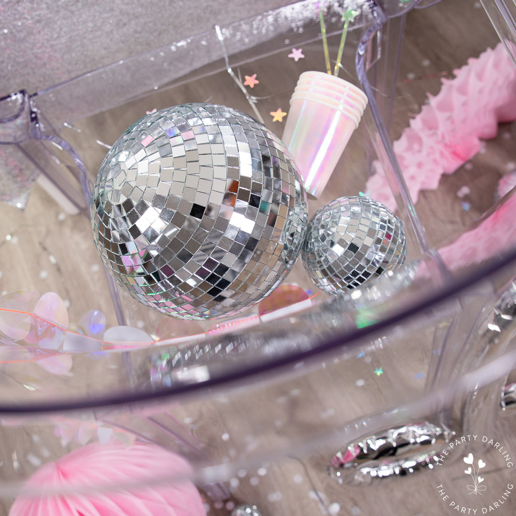 disco balls new year's eve party