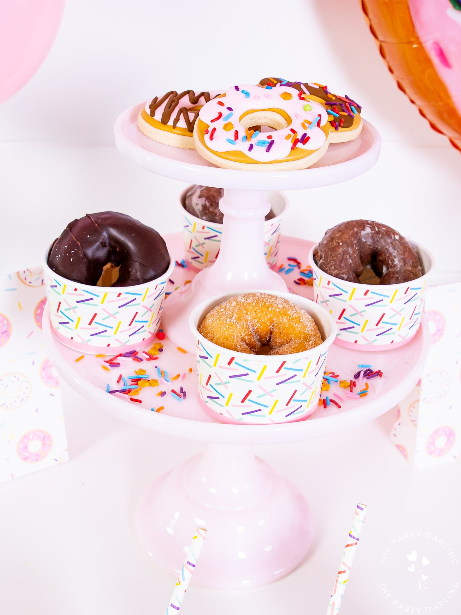 donut party donuts in cups