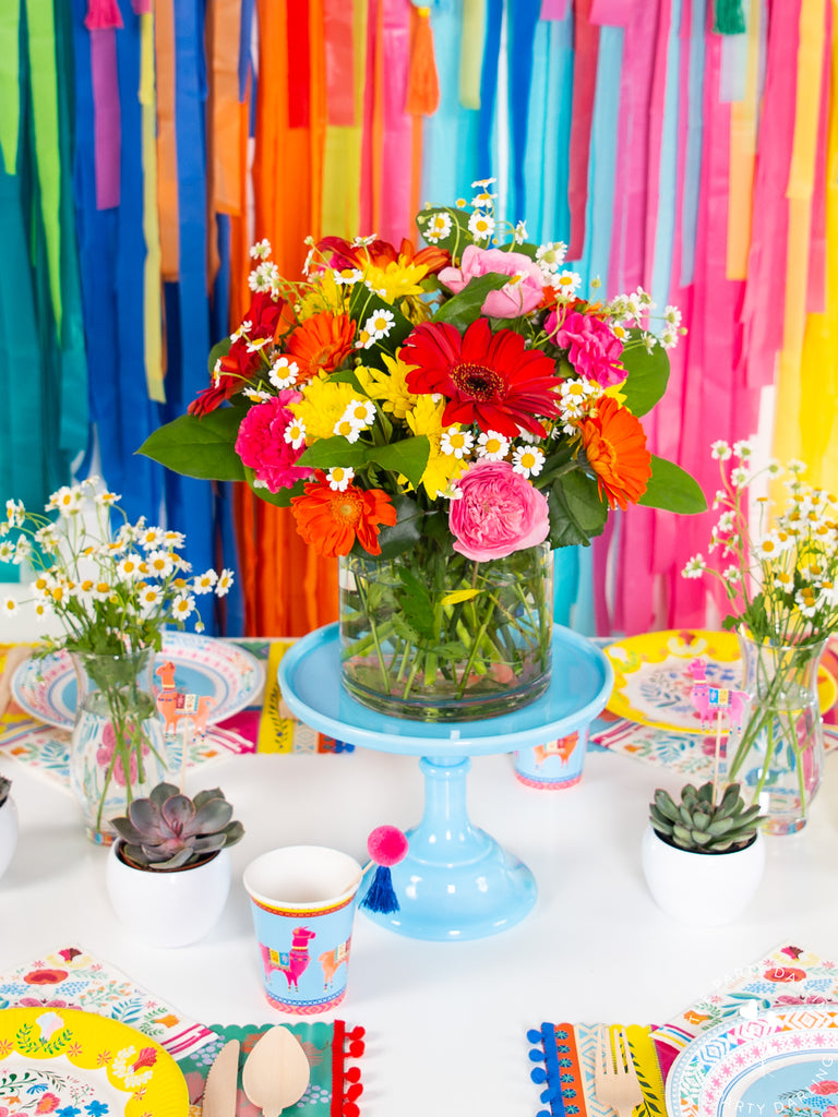 boho fiesta flower centerpiece
