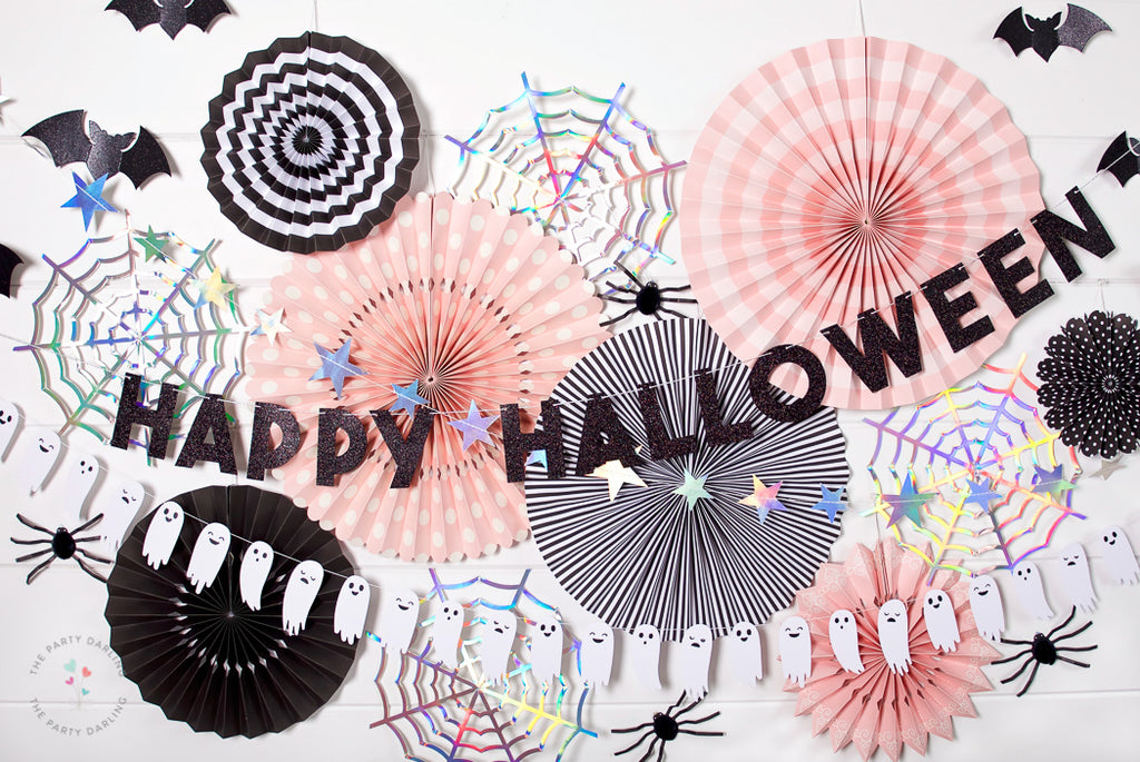 halloween backdrop party fans