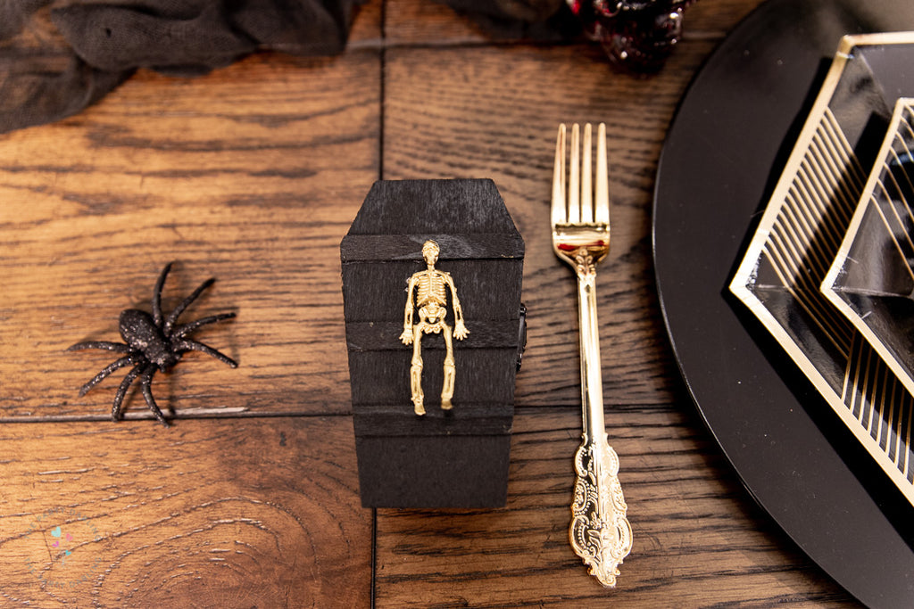 halloween table coffin party favor