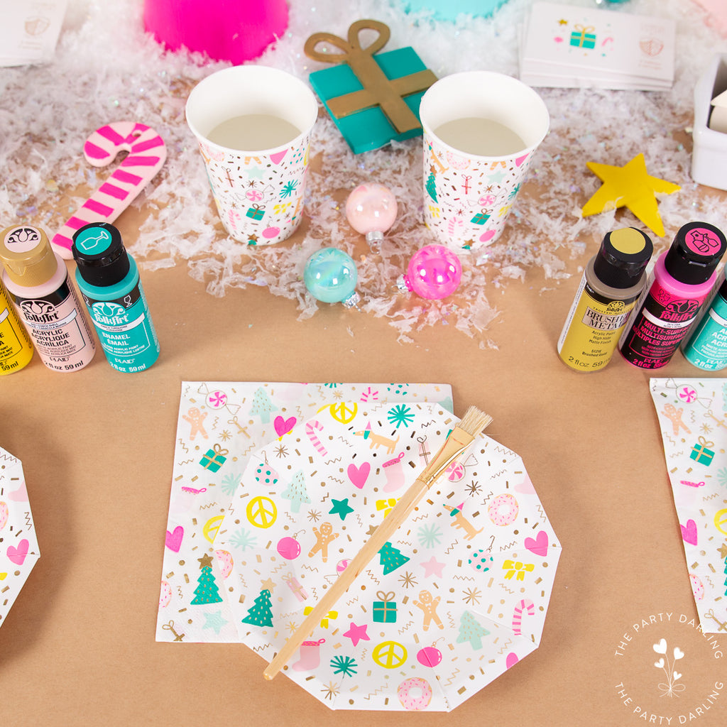 tableware for ornament decorating party