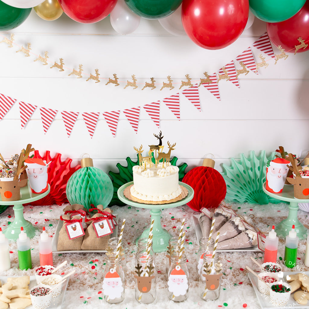 jadeite cake stands for christmas party