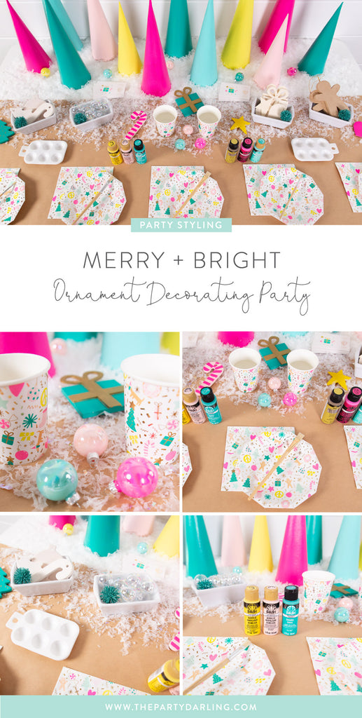 merry and bright holiday party idea