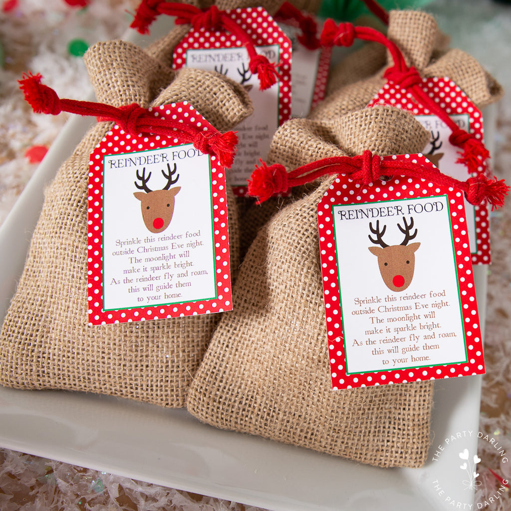 reindeer food and tag