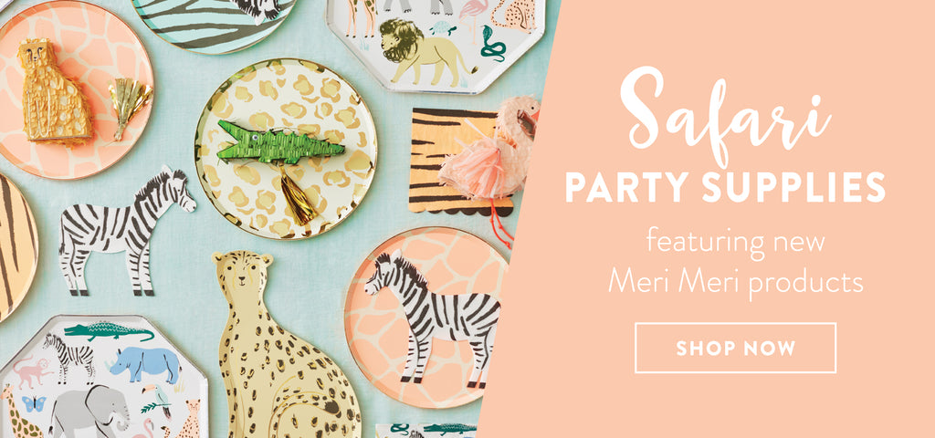 shop now for safari party supplies and decorations