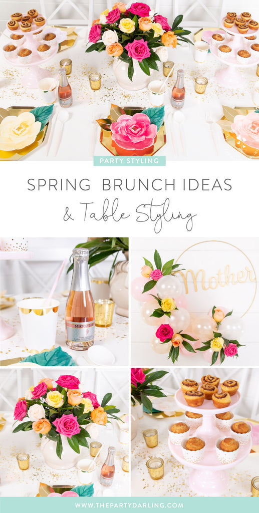 spring brunch ideas and table styling