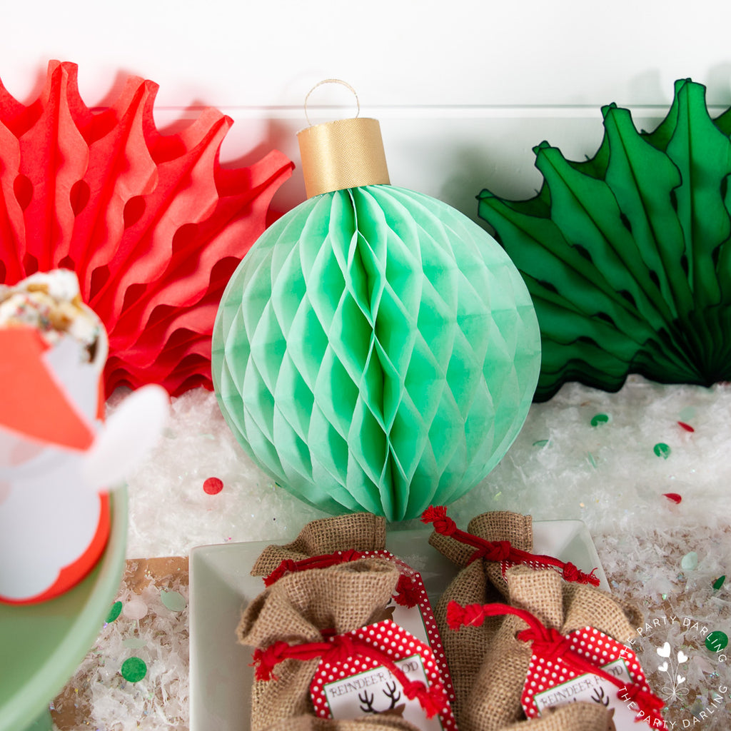 tissue ball ornaments