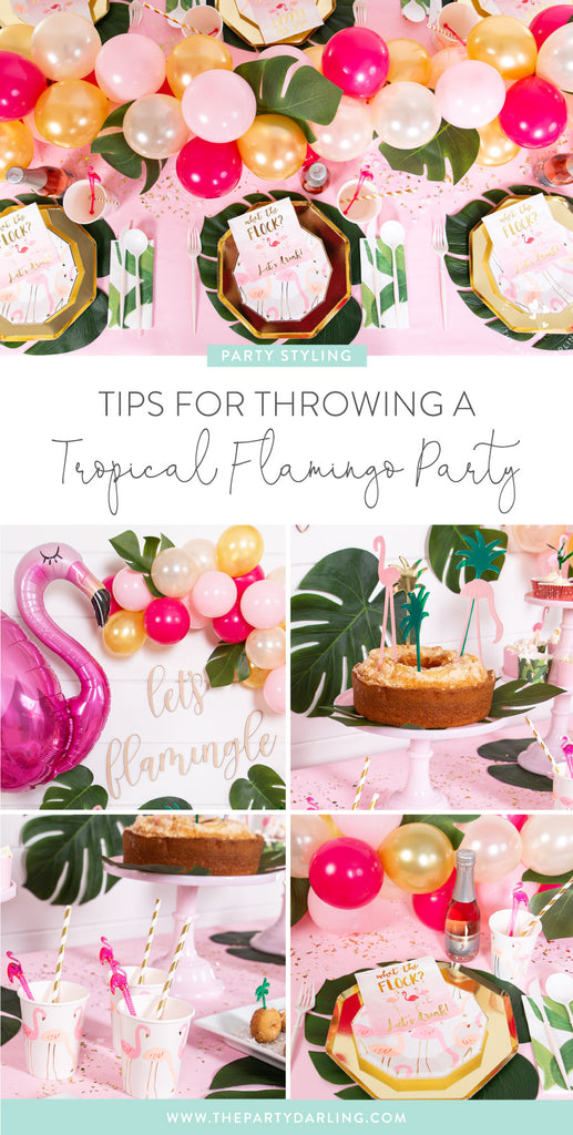 tips for throwing a tropical flamingo party