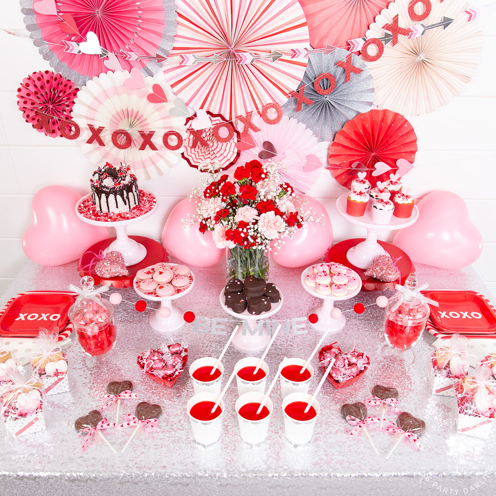 valentine party sweets table