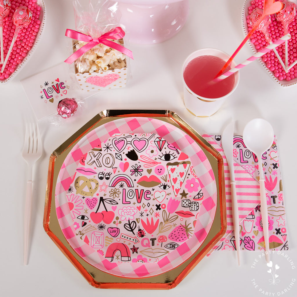 valentine's day table place setting