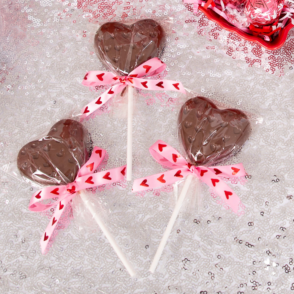 valentines chocolate suckers