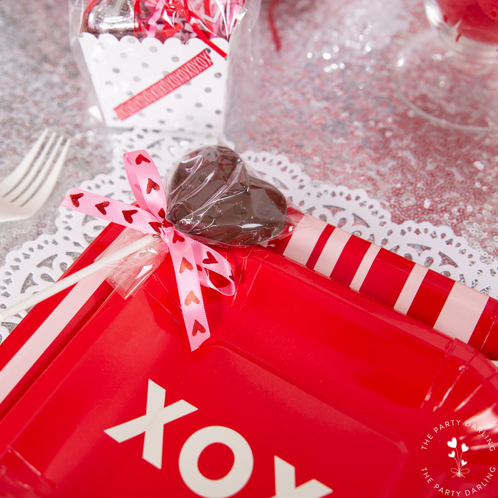 valentines party favor chocolate suckers