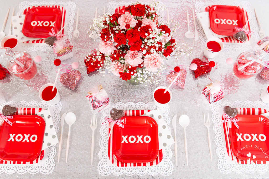valentines party table settings