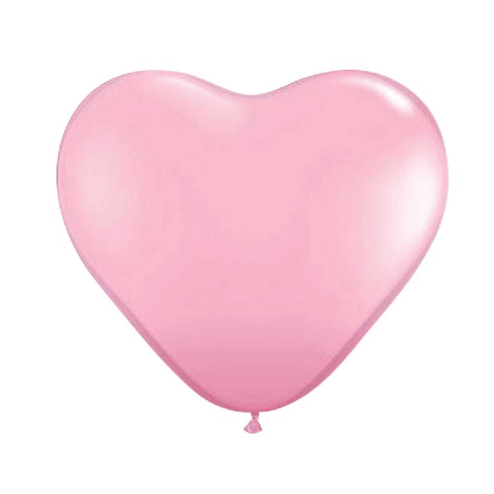 Light Pink Heart Latex Balloons 11""