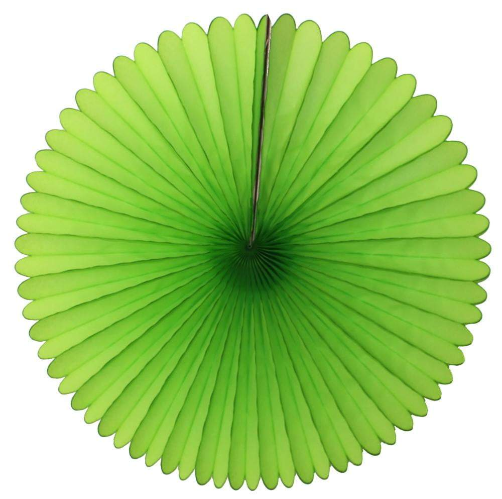 "13"" Lime Green Tissue Paper Fan 