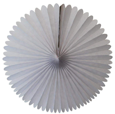 "13"" White Tissue Paper Fan"