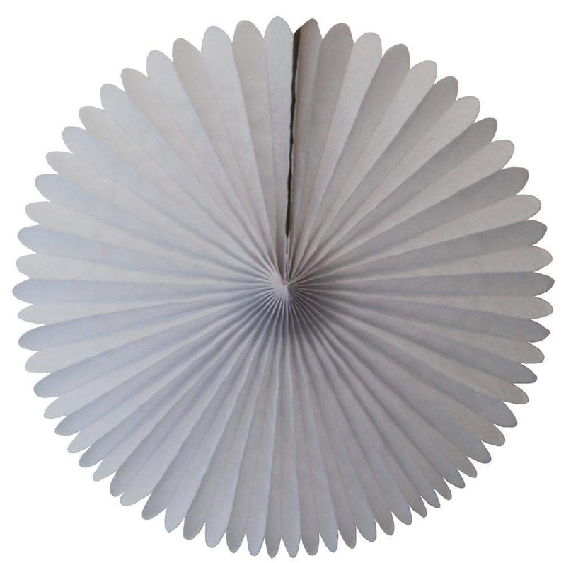 "13"" White Tissue Paper Fan - The Party Darling"