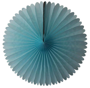 "13"" Light Blue Tissue Paper Fan"