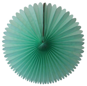 "13"" Mint Green Tissue Paper Fan 