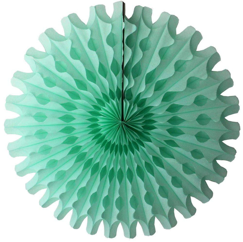 "18"" Mint Tissue Paper Fan 