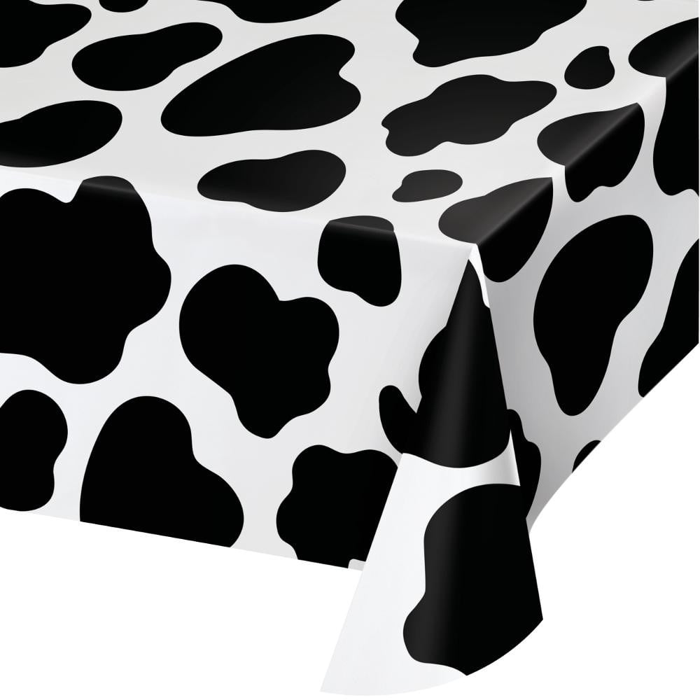 Cow Print Farm Table Cover