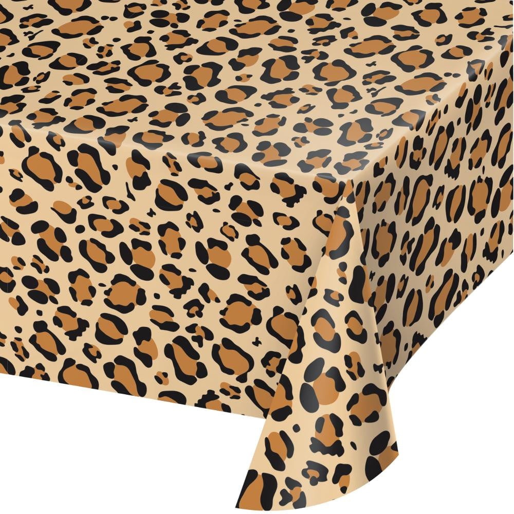 Leopard Print Plastic Table Cover
