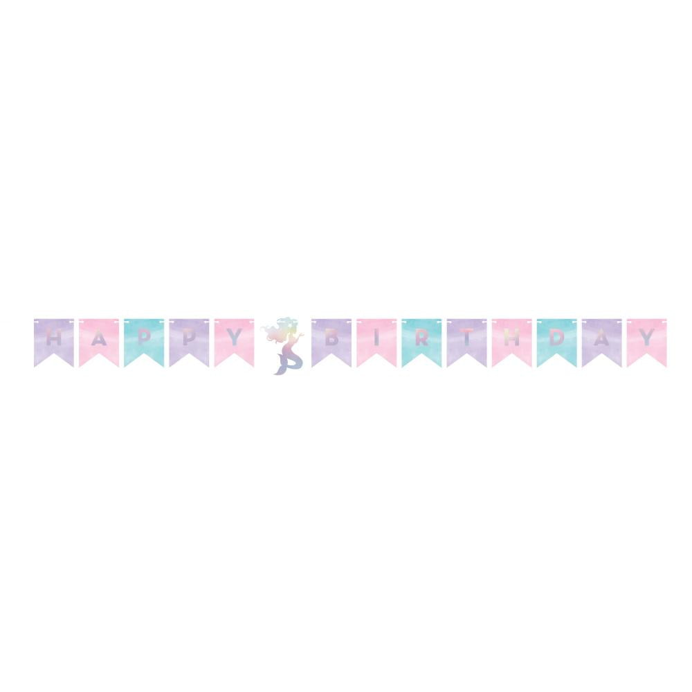 Shimmer Mermaid Happy Birthday Pennant Banner