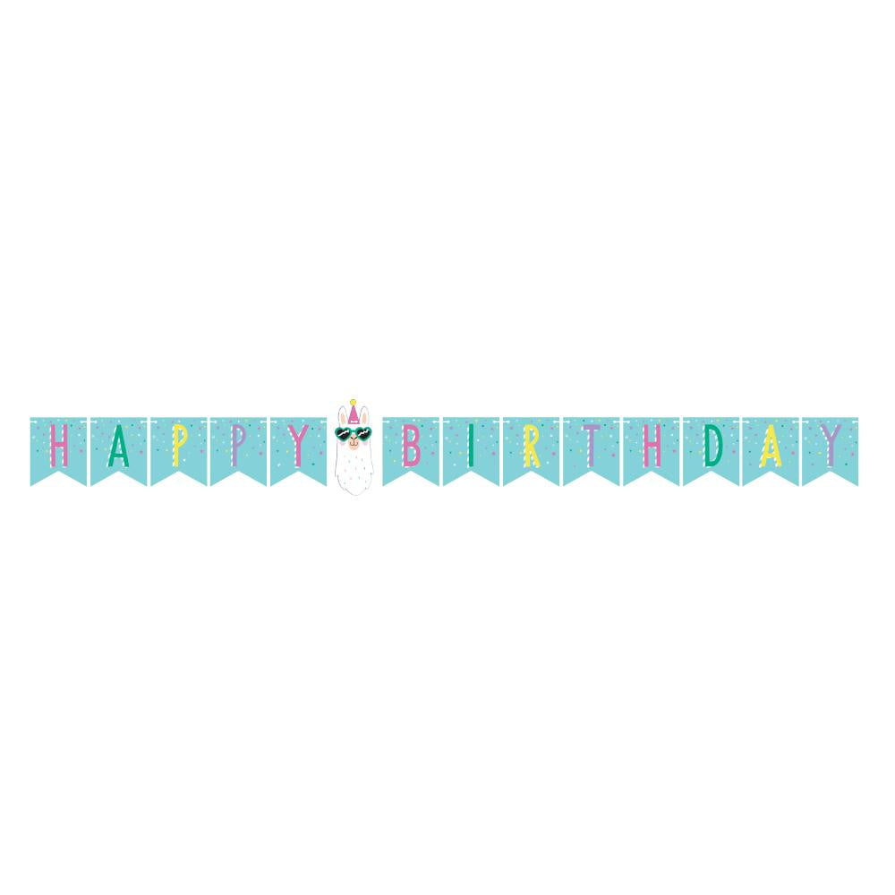 Llama Happy Birthday Banner - The Party Darling