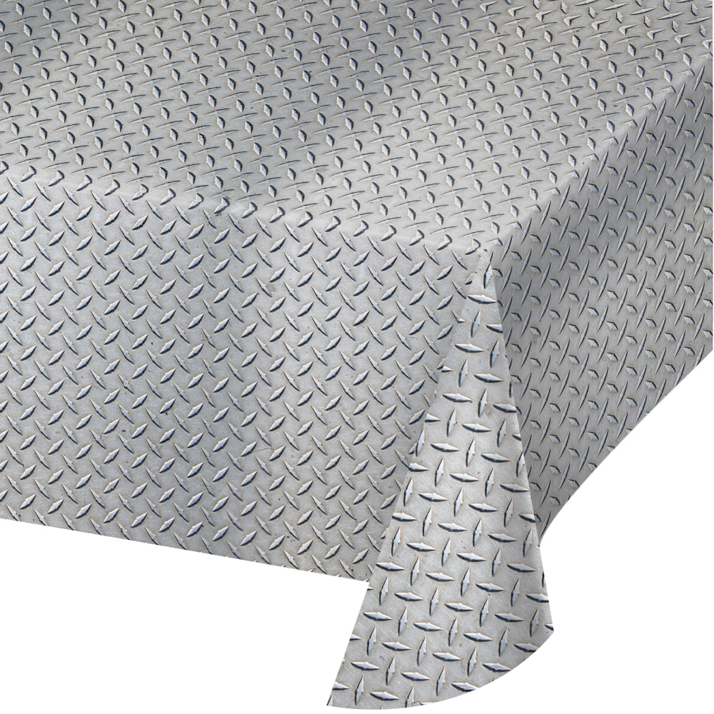 Diamond Plate Plastic Table Cover | The Party Darling