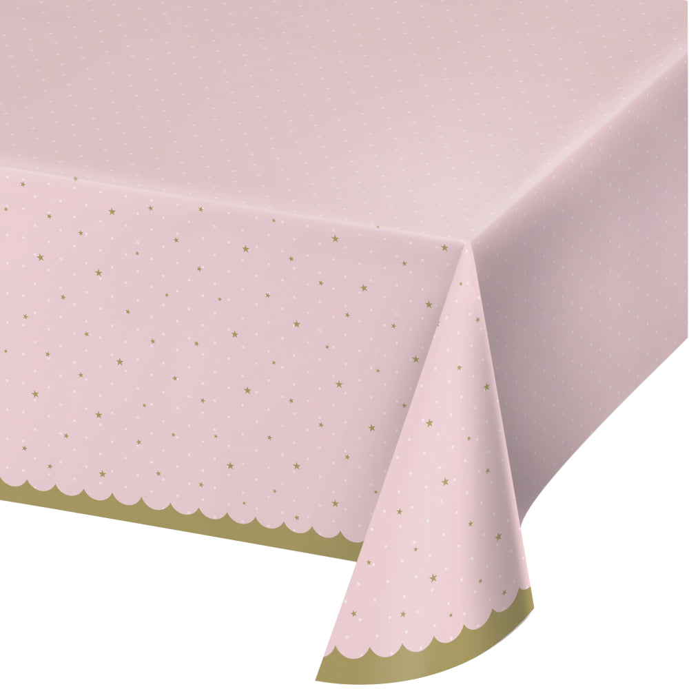 Pink and Gold Princess Plastic Table Cover | The Party Darling