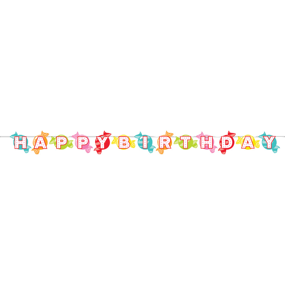 Candy Shop Happy Birthday Banner | The Party Darling