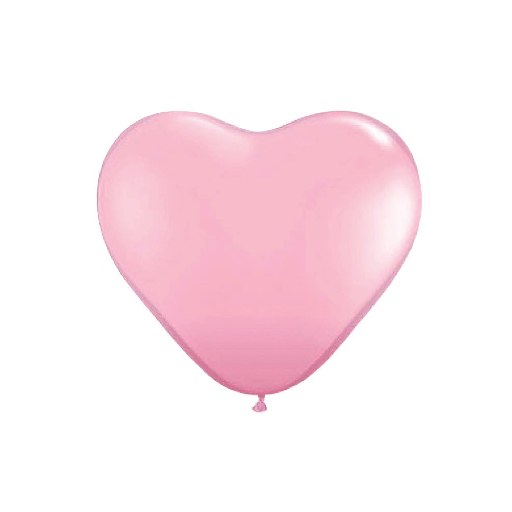 Light Pink Heart Latex Balloons 6""