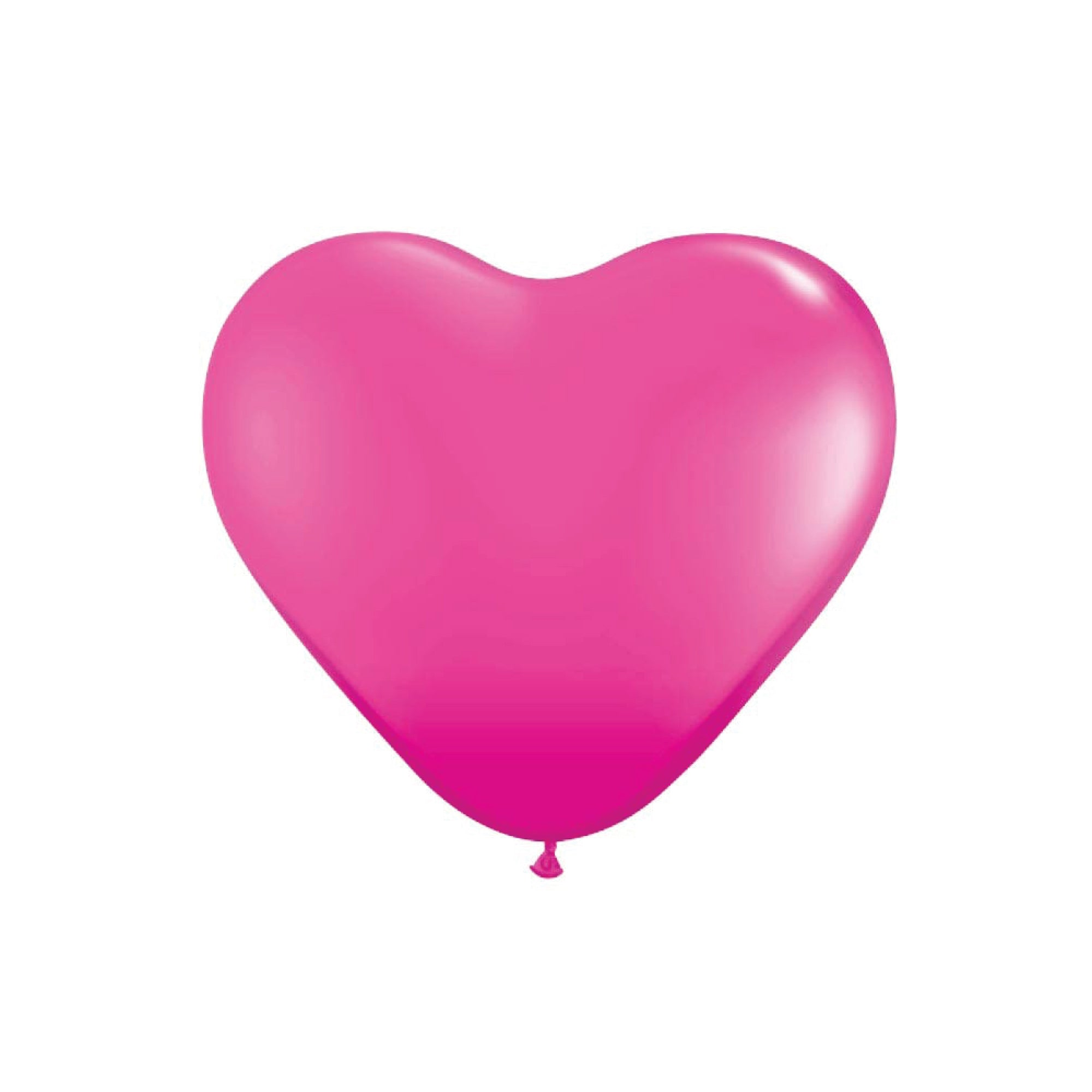Hot Pink Heart Latex Balloons 6""
