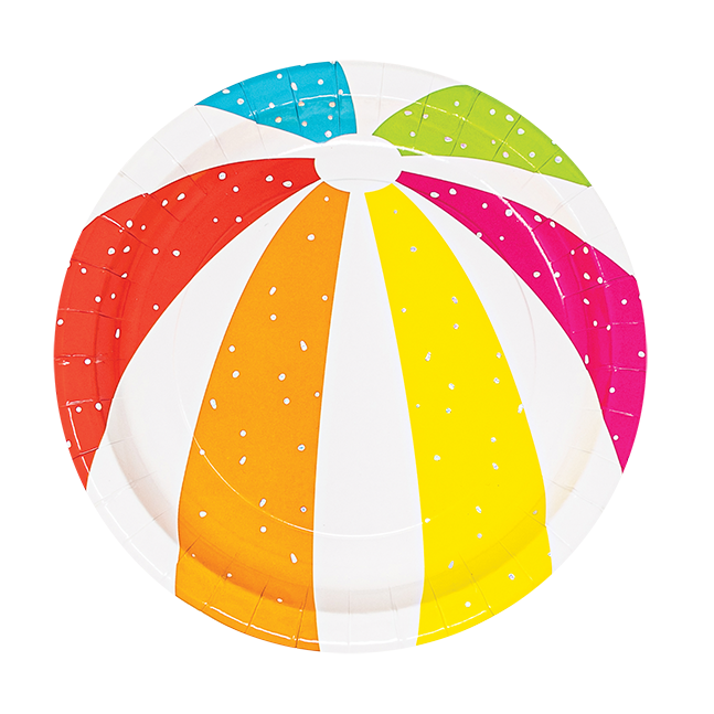 Beach Ball Dessert Plates 8ct | The Party Darling