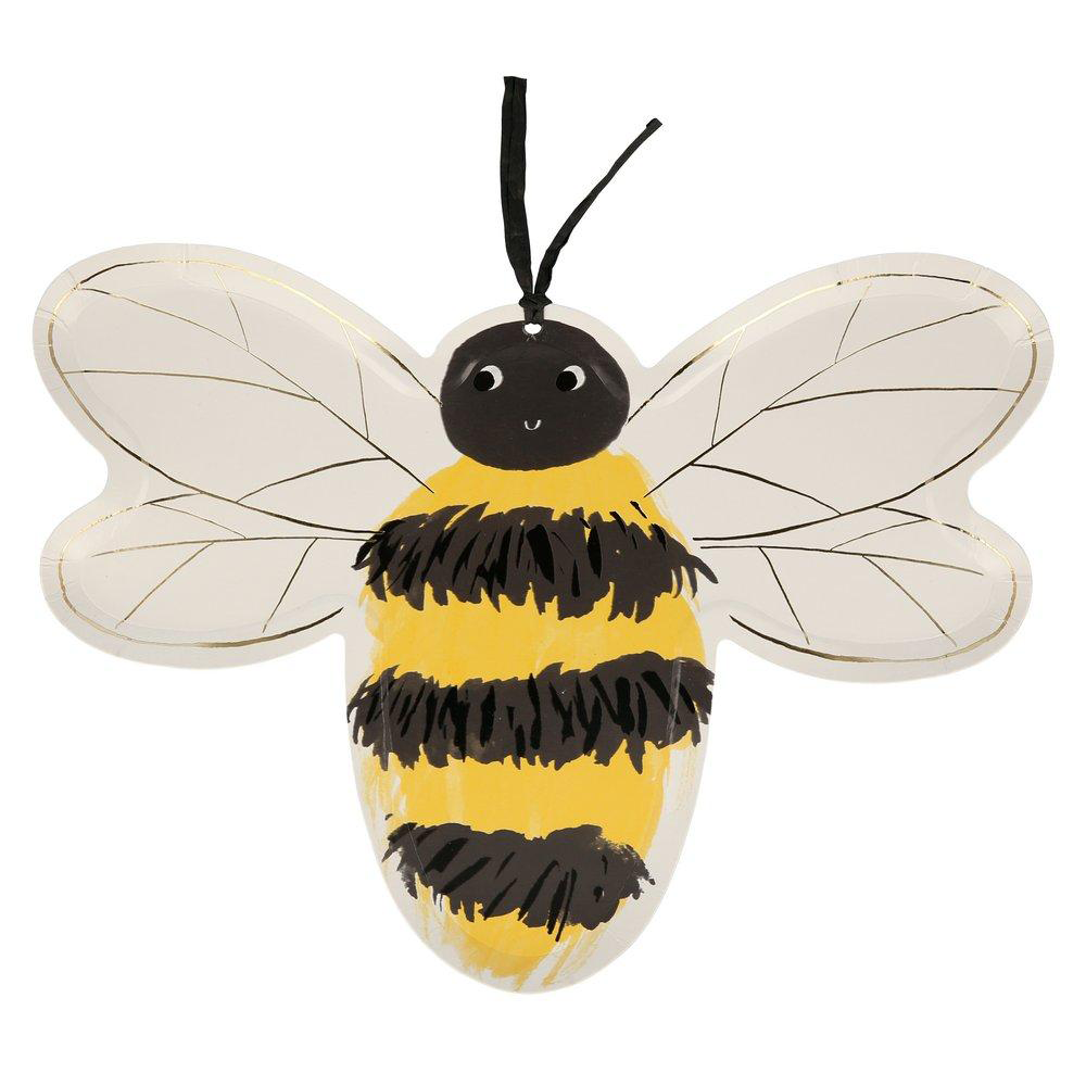 Bee Lunch Plates 8ct | The Party Darling