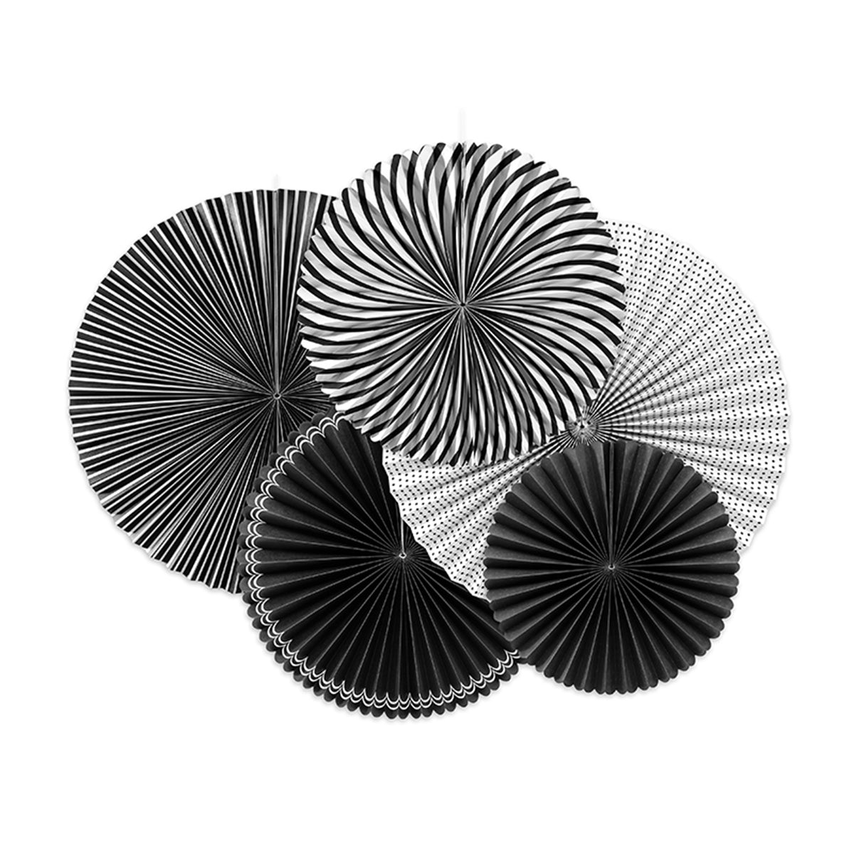Black & White Paper Fan Decorations | The Party Darling